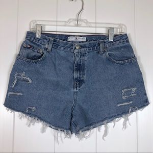Vintage Tommy Hilfiger High Rise Cut Off Shorts 10